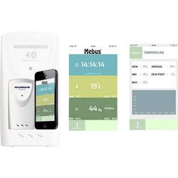 Mebus Thermo-/Hygrometer für Smartphones und Tablets Funkwetterstation
