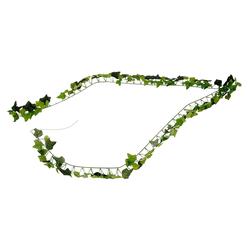 Kunstpflanze, Levandeo®, Efeu-Girlande L175 cm Grün Efeublätter Efeuranke Kunstpflanze Hängepflanze Deko