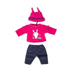Bayer Puppenkleidung Kleider für Puppen 33-38 cm: 3-tlg. Set - Hose, rosa