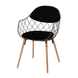 Krzesło Abdel czarne na bukowych nogach