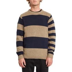 Volcom - Edmonder Striped Sweater Khaki - Sweatshirts - Größe: L
