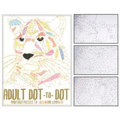 """Malbuch für Erwachsene """"Dot-to-Dot"""", 32 Punkt-Motive über 500 Punkte"""
