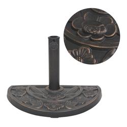 vidaXL Schirmständer vidaXL Sonnenschirmständer Harz Halbrund Bronze 9 kg