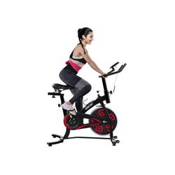 Merax Speedbike Phanes, Heimtrainer Fahrrad, Indoor Cycle, mit LCD-Konsole gelb