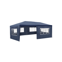 tectake Pavillon Garten Pavillon 6x3m mit 5 Seitenteilen blau