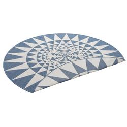Teppich Bela, my home, rund, Höhe 5 mm, In- und Outdoor geeignet, Sisaloptik blau Ø 140 cm x 5 mm