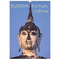 Buddha Portraits in Stone (Wall Calendar 2021 DIN A3 Portrait)