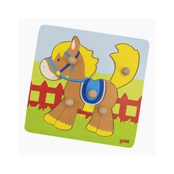 goki Konturenpuzzle Puzzle Pferd, 5 Puzzleteile