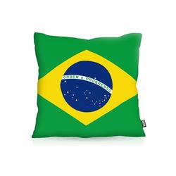 Kissenbezug, VOID, Brasilien Brazil EM WM Flagge Fahne Länderflagge 50 cm x 50 cm