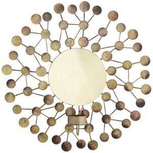 Wanddekoration mit Teelichthalter ¦ gold ¦ Metall ¦ Maße (cm): H: 7,5  Ø: [32.5] » Möbel Kraft