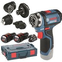 Bosch GSR 12V-15 FC Professional inkl. 2 x 2,0 Ah + L-Boxx 06019F6000