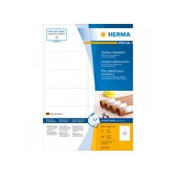 HERMA Etik. A4 Outdoor Klebefolie weiß 99.1x42.3mm 480 St. Etiketten 99,1x42,3 mm extrem stark haftend Folie matt wetterfest (9538)