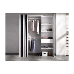 Kleiderschrank Kleiderschranksystem LAURENT - B. 110/160 cm - Weiß & Grau