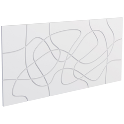 DECOFLAIR Set: 3D Wandpaneel Decoflair®Wandpaneele Laces, 2er-Set, 78 x 38 cm weiß