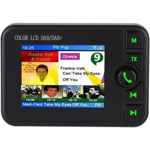 Bewinner 2.4in LCD-Auto-DAB-Radioadapter 170-240MHz DAB / 87.5-108MHz FM-Transmitter DAB-Autoadapter mit Halterung Auto-Digital-DAB-Radio unterstützt TF-Karten-Bluetooth-Musikspielen