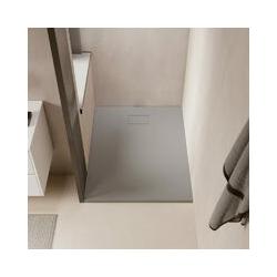 Duschwanne bodengleich PIATTO aus SoliCast® grau 90 cm x 160 cm