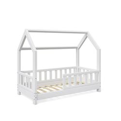 VitaliSpa® Kinderbett Möbel 1638 Kinderhaus Wiki 70x140 Zaun W 1/2 Weiß