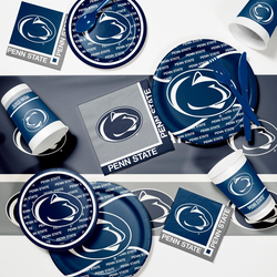 Creative Converting Penn State University Game Day Party Supplies Kit