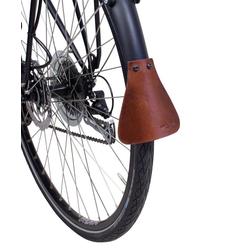 Gusti Leder Fahrradschutzhülle Hugo K., Spritzlappen Spritzschutz 2er-Set Schmutzfänger Fahrrad Vintage Braun Leder braun