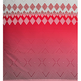 Kleine Wolke Rombo rot (155x220+80x80cm)