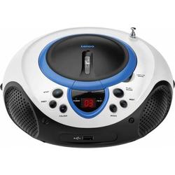 Lenco UKW-Radio CD/MP3 tragbar SCD-38 USB blue
