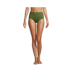 Control-Bikinihose High Waist CHLORRESISTENT, Damen, Größe: M Normal, Grün, Lycra, by Lands' End, Schnittlauch - M - Schnittlauch