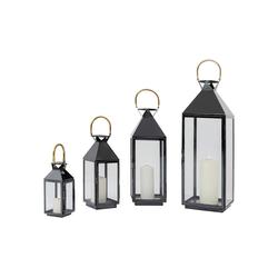 KARE Stehlampe Laterne Giardino Schwarz Gold 4Set