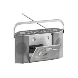 Radio-CD-Player, extra schmal silberfarben CD-Radiorecorder Radios Audio, MP3, Musik Radiogeräte