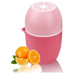 kueatily Zitruspresse Zitronenpresse Einzigartiger Zitronenpresse Manueller Entsafter mit zwei Pressoptionen für verschiedene Früchte rosa