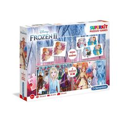 Clementoni® Puzzle Spiele & Puzzle Superkit - Disney Eiskönigin 2, Puzzleteile