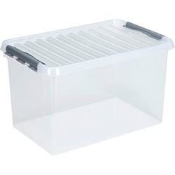 sunware Q-line Aufbewahrungsbox 72,0 l transparent 60,0 x 40,0 x 42,0 cm
