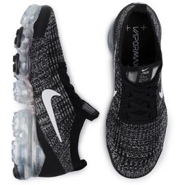 Nike Men's Air Vapormax Flyknit 3 black/white/metallic silver 45