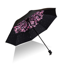 Masbekte Trekkingschirm, Taschenschirme, UV-Schutz,Schirme, Sonnenschirm, Taschenschirm, Regenschirm, UV-Schutz, Blumen