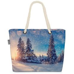 VOID Strandtasche (1-tlg), Winterlandschaft Ski Schnee Beach Bag Winterlandschaft Schnee Ski Österreich Ta