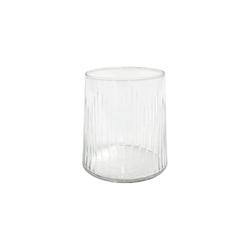 HKliving Trinkglas Eingravierte Linien