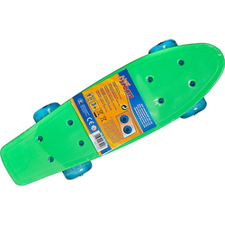 Mini Skateboard mit LED, 41,5 x 12 cm bunt