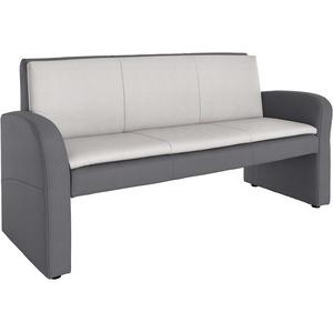 Gala Collezione Hockerbank mit Rückenlehne, grau, schlamm/hellgrau, FSC®-zertifiziert, exxpo - sofa fashion