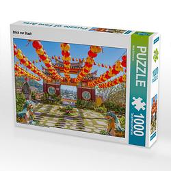 Blick zur Stadt Lege-Größe 64 x 48 cm Foto-Puzzle Bild von Nina Schwarze Puzzle