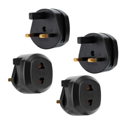 Intirilife 4x Steckdosen Adapter Stromadapter, 4er Set UK Typ G auf USA Typ A Steckdosen Stromadapter Reisestecker für z.B. Amerika, Japan, Kanada, Thailand