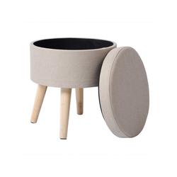 Woltu Sitzhocker, Sitzhocker Fußhocker mit Stauraum SH08