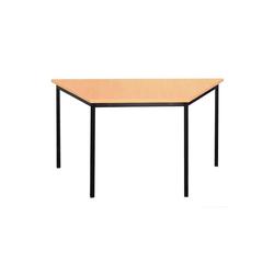 Lüllmann Schreibtisch Schreibtisch Trapeztisch, 750 x 1400 x 700 mm (1-St), Maße: 750 x 1400 x 700 mm (HxBxT) braun