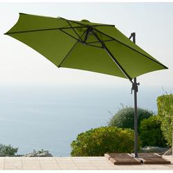 garten gut Ampelschirm, ohne Wegeplatten grün Ampelschirm Sonnenschirme -segel Gartenmöbel Gartendeko