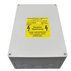Netzgerät und Vorschaltgerät 100-277 V AC / 24 V DC - 200 W, 50 / 60 Hz, IP 54