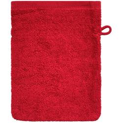 Dyckhoff Waschhandschuh ''Kristall'' Rot 16 x 21 cm