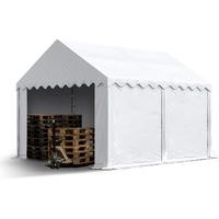 TOOLPORT Lagerzelt 3x4 m Unterstand mit Bodenrahmen und Dachverstärkung ca. 550g/m²