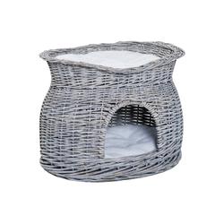 PawHut Tierhöhle Katzenkorb mit 2 Kissen