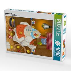 Mein Huhn Emma Lege-Größe 48 x 64 cm Foto-Puzzle Bild von Marion Krätschmer Puzzle