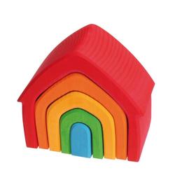 GRIMM´S Spiel und Holz Design Lernspielzeug, Haus bunt