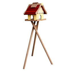HABAU Vogelhaus Norwegen, mit Standbein, B/T/H: 35/44/40 cm rot