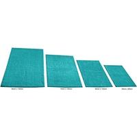 KiNZLER Badematte Chenille KiNZLER, Höhe 18 mm, rutschhemmend beschichtet, fußbodenheizungsgeeignet, Besonders weich durch Microfaser grün rechteckig - 80 cm x 150 cm x 18 mm